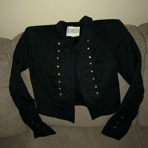 Black, military-style jacket